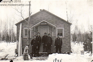 Historic Black and White Deer Camp Photos