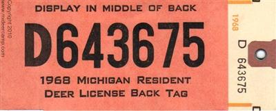 Michigan deer hunting history for Michigan fishing license online