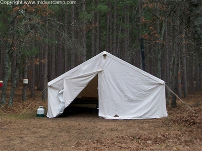 Front View Of the 16x20 Wall Tent ... : montana wall tents - memphite.com