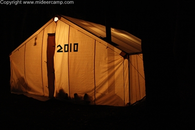 At night the tent u201cglowsu201d from the lanterns inside. & Wall Tent Guide