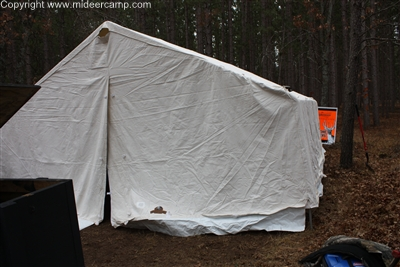 Placing the Canvas on the Frame ... : wall tent frame kits - memphite.com